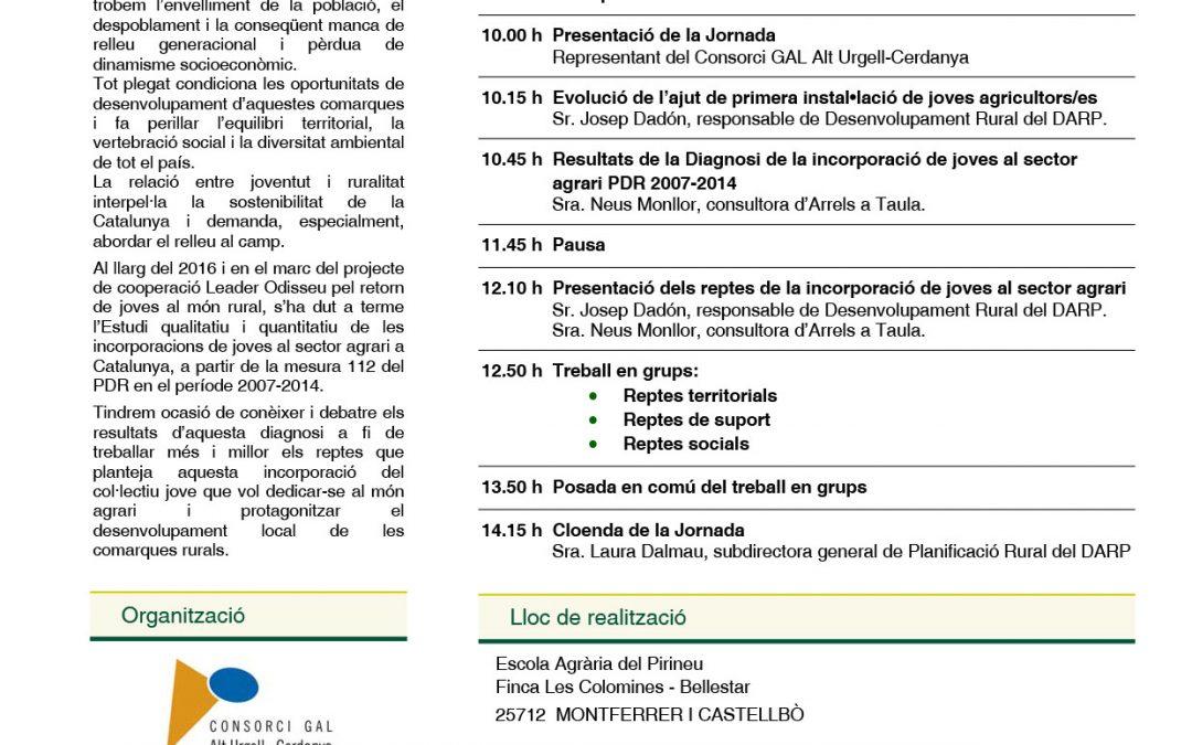 """Jornada 9 de maig PATT Alt Urgell """"JOVENTUT I DESENVOLUPAMENT RURAL"""""""