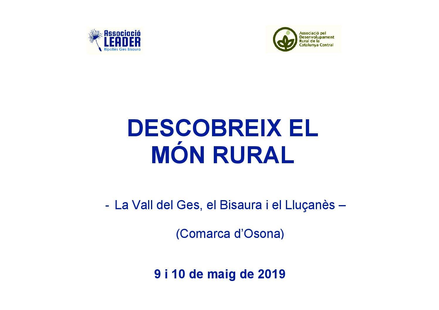 """Jornada """"Descobreix el món rural"""" de la comarca d'Osona"""