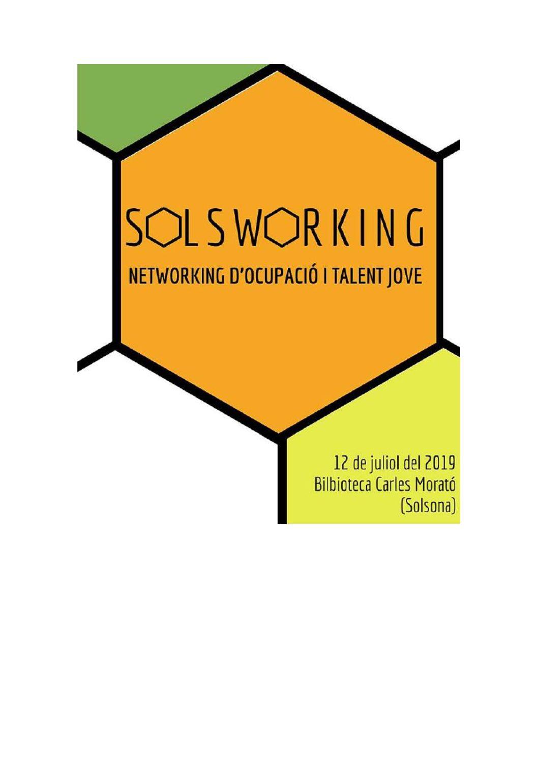 """Jornada """"SOLSWORKING"""" Networking d'ocupació jove al Solsonès"""